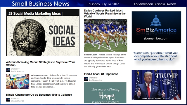Small Business News 7.14.16