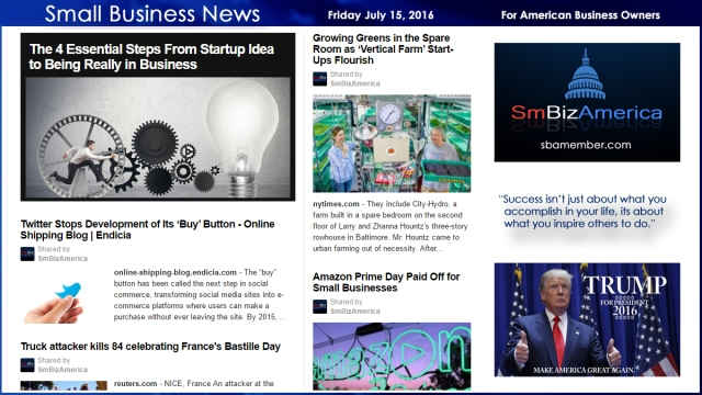 Small Business News 7.15.16