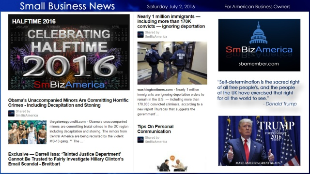 Small Business News 7.2.16