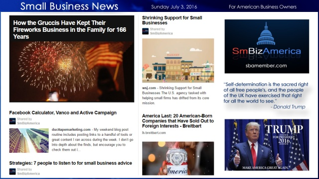 Small Business News 7.3.16