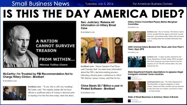 Small Business News 7.5.16 America