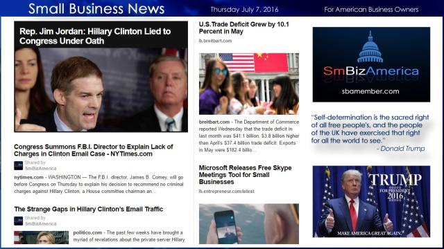 Small Business News 7.7.16