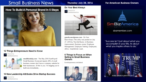 Small Business News Wednesday July 28 2016