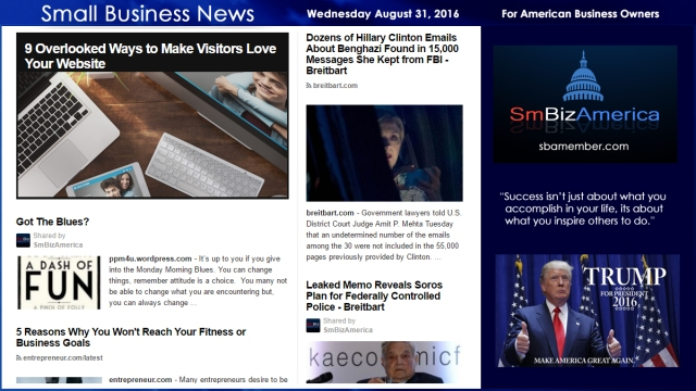 Small Business New Wednesday August 31 2016