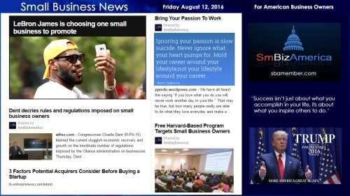 Small Business News Friday August 12 2016