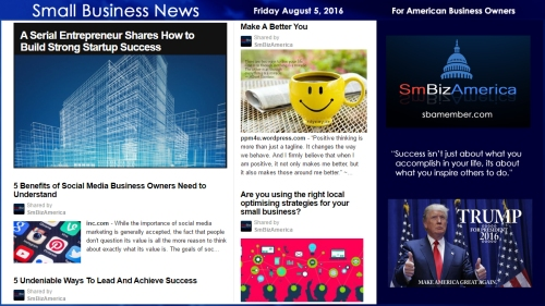 Small Business News Froday August 5 2016