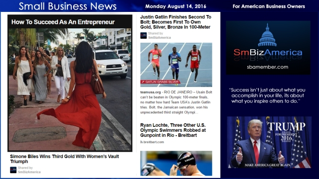 Small Business News Monday August 15 2016