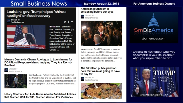 Small Business News Monday August 22 2016