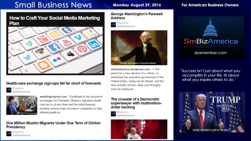Small Business News Monday August 29 2016