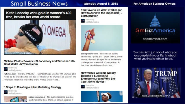 Small Business News Monday August 8 2016