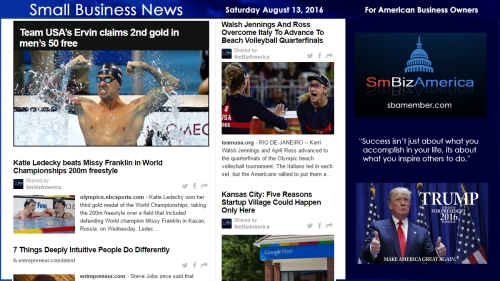 Small Business News Saturday August 13 2016