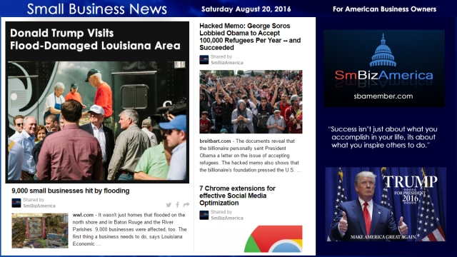Small Business News Saturday August 20 2016