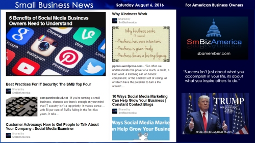 Small Business News Saturday August 6 2016