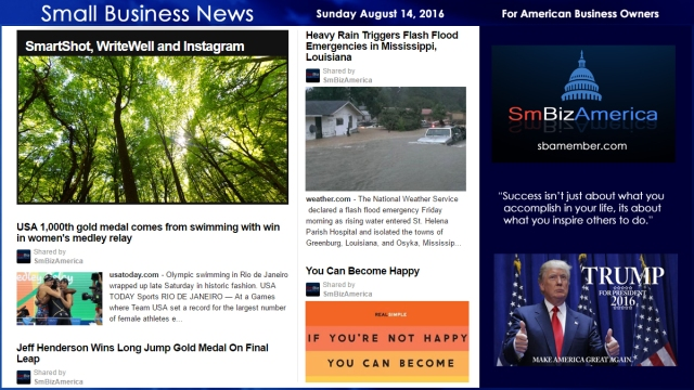 Small Business News Sunday August 14 2016