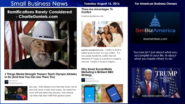 Small Business News Tuesday August 16 2016
