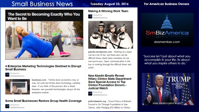Small Business News Tuesday August 23 2016
