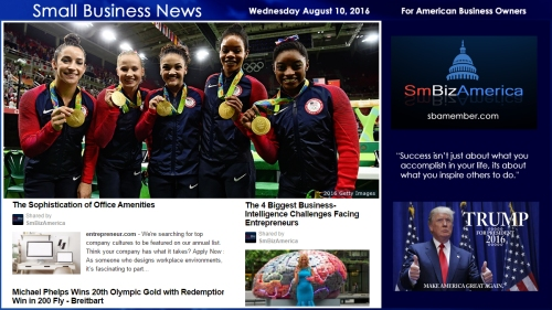 Small Business News Wednesday August 10 2016 OLYMPICS