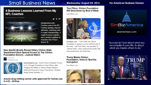 Small Business News Wednesday August 24 2016