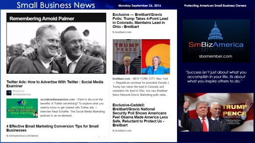 small-business-news-monday-september-26-2016-smallbusiness-arnoldpalmer