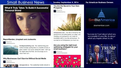 Small Business News Sunday September 4 2016