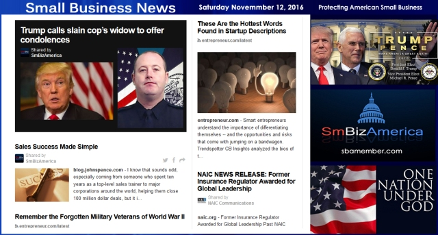small-business-news-saturday-11-12-16-smallbusiness-smallbusiness-news-smbizamerica