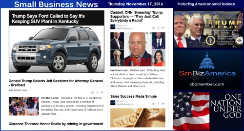 small-business-news-saturday-11-19-16-ford-realdonaldtrump