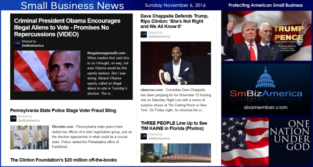 small-business-news-sunday-11-6-16