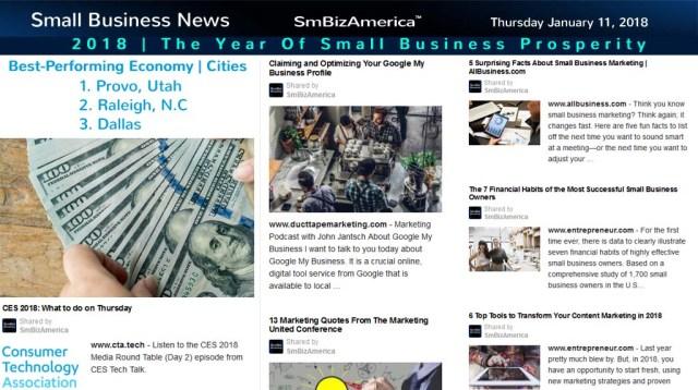 Small Business News | Thursday 1-11-18 | SmBizAmerica