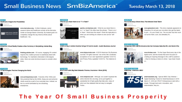 Small Business News 3-13-18 #SmallBusiness News-Google @SmBizAmerica