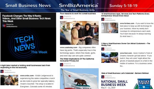 Small Business News 5-19-19 SmBizAmerica Sunday