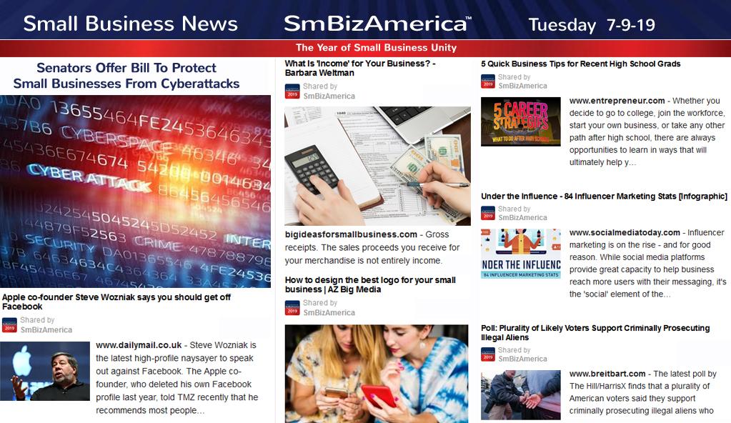 Small Business News 7-9-19 | SmBizAmerica