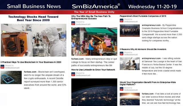 Small Business News 11-20-19 @SmBizAmerica