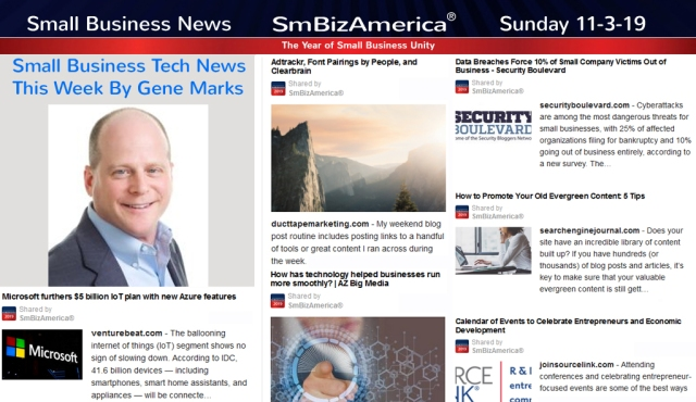 Small Business News 11-3-19 @SmBizAmerica