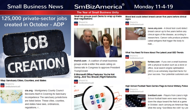 Small Business News 11-4-19 @SmBizAmerica