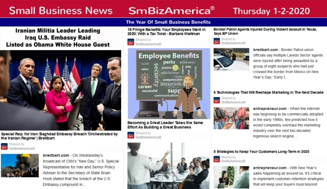 Small Business News 1-20-20 @SmBizAmerica
