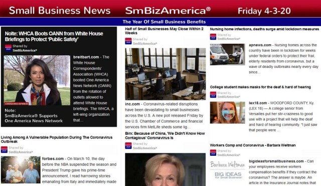Small Business News 4-3-2020 @SmBizAmerica #SmBizNews